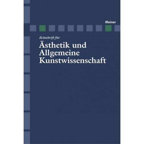 zeitschrift f r sthetik und allgemeine kunstwissenschaft band 51 heft 1. Black Bedroom Furniture Sets. Home Design Ideas