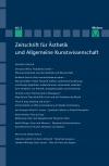 Zeitschrift für Ästhetik und Allgemeine Kunstwissenschaft Band 60. Heft 2