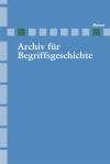 Archiv für Begriffsgeschichte. Band 46
