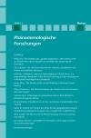 Phänomenologische Forschungen 2019-1