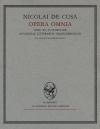 Opera omnia. Volumen III
