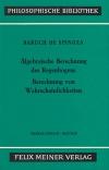 Sämtliche Werke, Ergänzungsband: Algebraische Berechnung des Regenbogens - Berechnung von Wahrscheinlichkeiten