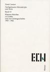 Kleinere Schriften zu Goethe und zur Geistesgeschichte