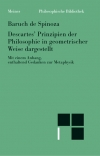 Sämtliche Werke, Bd. 4.: Descartes' Prinzipien der Philosophie in geometrischer Weise dargestellt