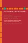 Zeitschrift für Kulturphilosophie 2013/2: Technik