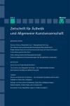 Zeitschrift für Ästhetik und Allgemeine Kunstwissenschaft Band 59. Heft 2