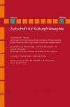 Zeitschrift für Kulturphilosophie 2016/2: Plessner