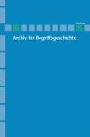 Archiv für Begriffsgeschichte. Band 55