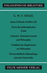 Jenaer Kritische Schriften (II)