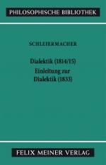 Dialektik (1814/1815). Einleitung zur Dialektik (1833)