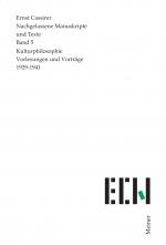 Kulturphilosophie. Vorlesungen und Vorträge 1929-1941