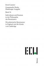 Individuum und Kosmos in der Philosophie der Renaissance. Die platonische Renaissance in England und die Schule von Cambridge