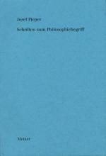 Schriften zum Philosophiebegriff