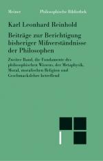Beiträge zur Berichtigung bisheriger Mißverständnisse der Philosophen (II)