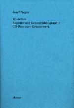 Miszellen. Register und Gesamtbibliographie