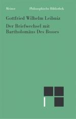 Der Briefwechsel mit Bartholomäus Des Bosses