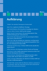 Aufklärung, Band 23: Die natürliche Theologie bei Christian Wolff