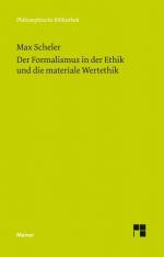Der Formalismus in der Ethik und die materiale Wertethik