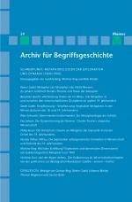 Archiv für Begriffsgeschichte. Band 59: Metaphorologien der Exploration und Dynamik (1800/1900)