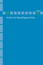 Archiv für Begriffsgeschichte. Band 49