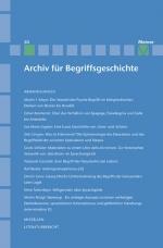 Archiv für Begriffsgeschichte. Band 50