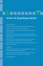 Archiv für Begriffsgeschichte. Band 51