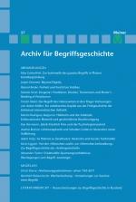 Archiv für Begriffsgeschichte. Band 57