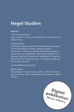 Hegel-Studien Band 35