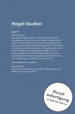 Hegel-Studien Band 31 (1996)