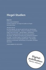 Hegel-Studien Band 34