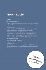 Hegel-Studien Band 35 (2000)