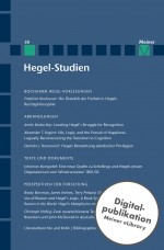 Hegel-Studien Band 50