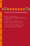Zeitschrift für Kulturphilosophie 2013/1: Rhythmus und Moderne