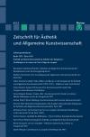 Zeitschrift für Ästhetik und Allgemeine Kunstwissenschaft Band 61. Heft 2