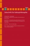 Zeitschrift für Kulturphilosophie 2019/1: Morphologie
