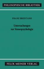 Untersuchungen zur Sinnespsychologie