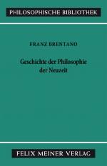 Geschichte der Philosophie der Neuzeit