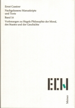 Vorlesungen zu Hegels Philosophie der Moral, des Staates und der Geschichte