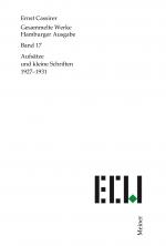 Aufsätze und kleine Schriften (1927-1931)