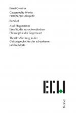 Axel Hägerström. Eine Studie zur schwedischen Philosophie der Gegenwart. Thorilds Stellung in der Geistesgeschichte des achtzehnten Jahrhunderts