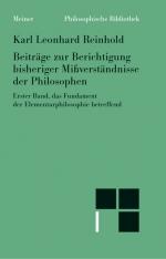 Beiträge zur Berichtigung bisheriger Mißverständnisse der Philosophen (I)