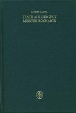 Miscellanea: Texte aus der Zeit Meister Eckharts I