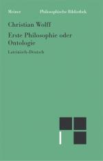 Erste Philosophie oder Ontologie