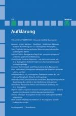 Aufklärung, Band 20: Alexander Gottlieb Baumgarten. Sinnliche Erkenntnis in der Philosophie des Rationalismus