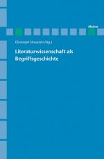 Literaturwissenschaft als Begriffsgeschichte