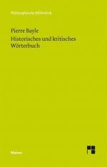 Historisches und kritisches Wörterbuch. Eine Auswahl.