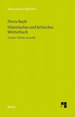 Historisches und kritisches Wörterbuch. Zweiter Teil der Auswahl