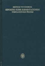 Expositio super elementationem theologicam Procli