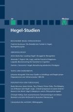 Hegel-Studien Band 50