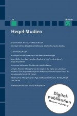 Hegel-Studien Band 52